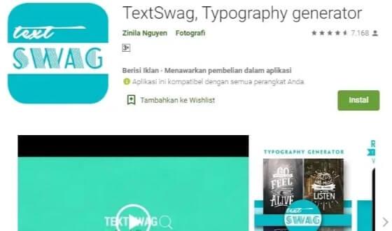 aplikasi textSwag