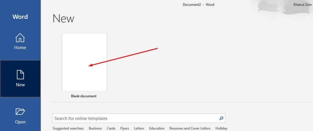 membuat dokumen microsoft word