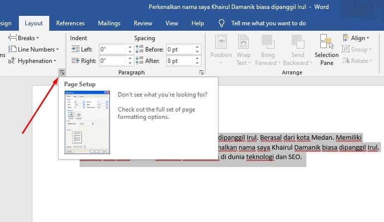 mengatur margin microsoft word 3