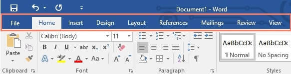 ribbon microsoft word