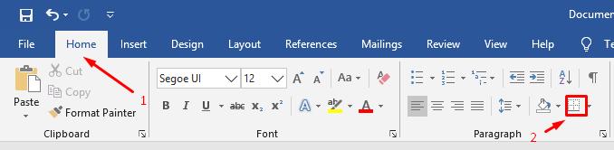 cara menambahkan bingkai ke teks sederhana 2