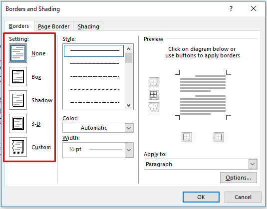 cara menambahkan bingkai ke teks sederhana 4