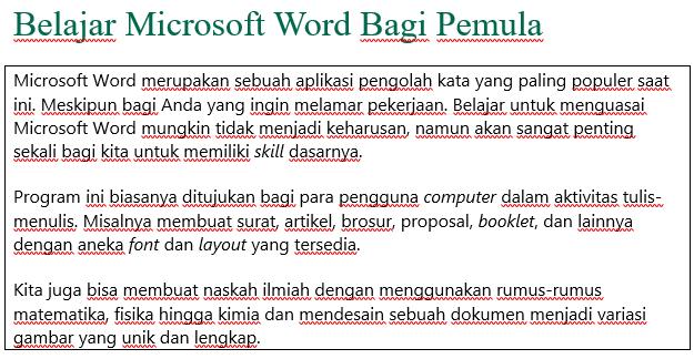 cara menambahkan bingkai ke teks sederhana