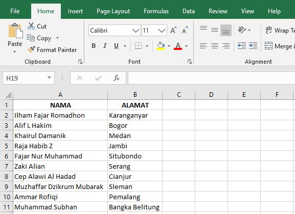 data label