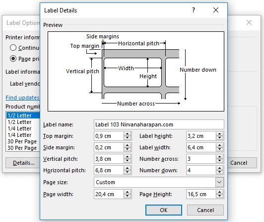 membuat template label di microsoft word 3