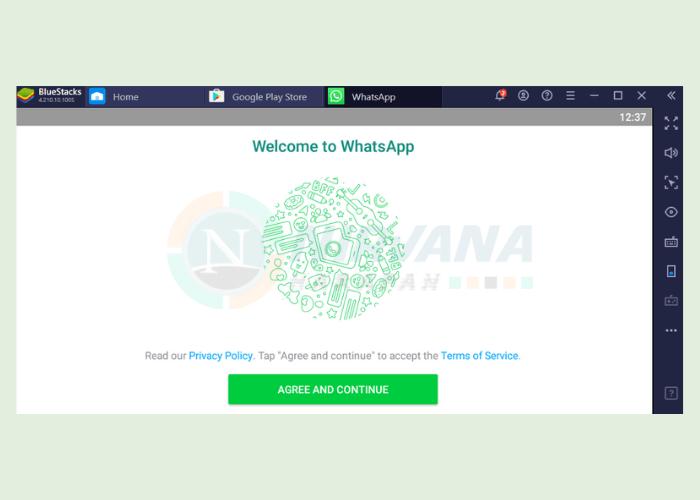 menggunakan whatsapp di emulator