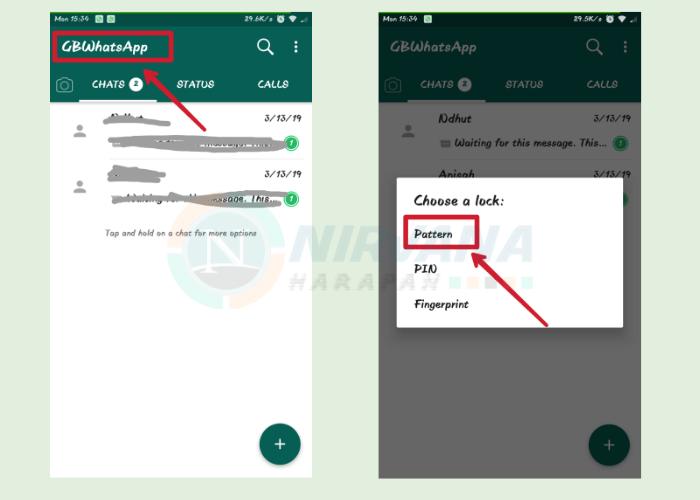 sembunyikan chat wa dengan aplikasi tambahan