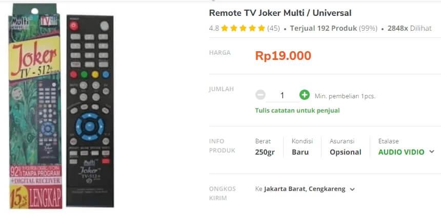 harga remote