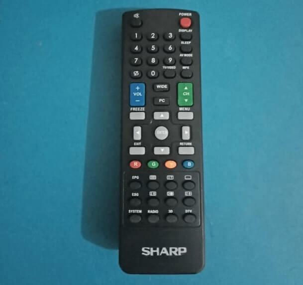 kode remot tv sharp tabung